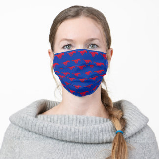 Red SMU Mustang Logo Adult Cloth Face Mask
