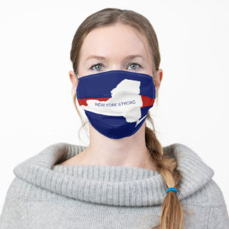 Red, White & Blue New York Strong State Adult Cloth Face Mask