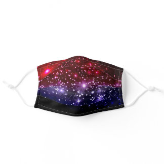 Red White & Blue Patriotic Sparkle Adult Cloth Face Mask