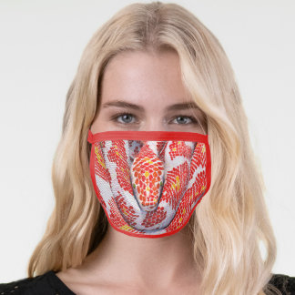 Red White Boa Face Mask