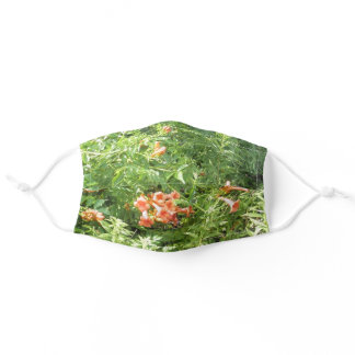 Red Wild Flowers Adult Cloth Face Mask