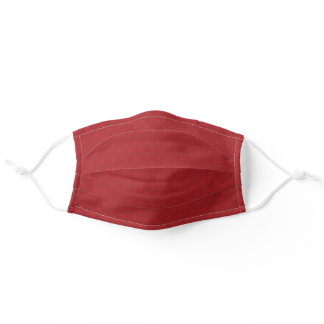 red, wine red solid color adult cloth face mask