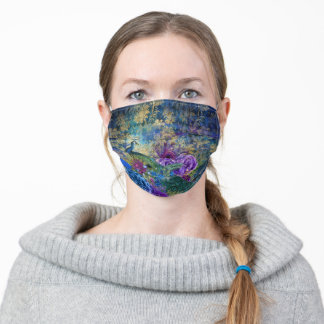 Regal Peacock French Decoupage Face Mask
