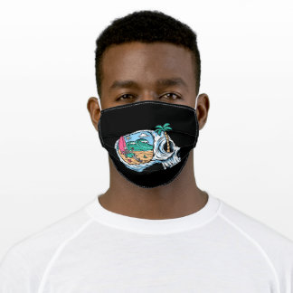 Relax your mind on the beach adult cloth face mask