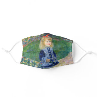 "Renoir "" A Girl with a Watering Can "" Adult Cloth Face Mask"