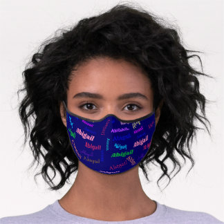 Repeating Name Colorful Adjustable For Her Premium Face Mask