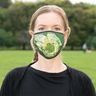 Respiratory mask, Celtic clover in hands Adult Cloth Face Mask