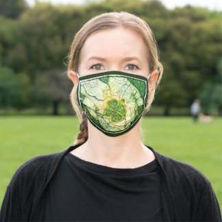 Respiratory mask, Celtic clover in hands Cloth Face Mask