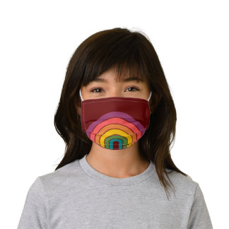 Retro 80s Rainbow Personalized Kids' Cloth Face Mask