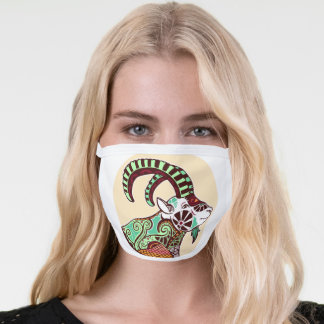 Retro Capricorn Goat All-Over Print Face Mask