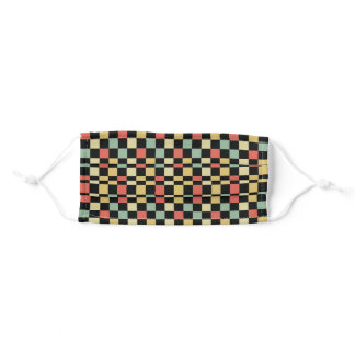 Retro Colors Checked Pattern Adult Cloth Face Mask