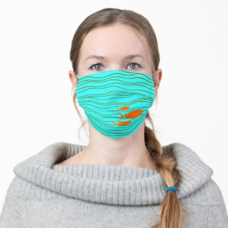 Retro Fish Adult Cloth Face Mask