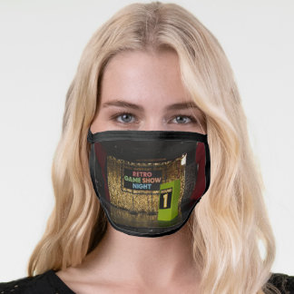 Retro Game Show Night Round One Face Mask