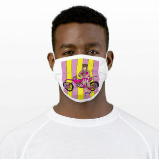 Retro Motorsport Motorcycle Adult Cloth Face Mask
