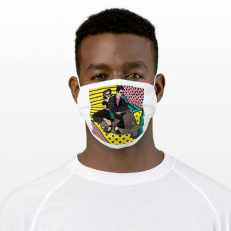 Retro Motorsport Motorcycle And Couple Adult Cloth Face Mask