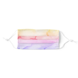 Retro psychedelic marble paint tie-dye adult cloth face mask