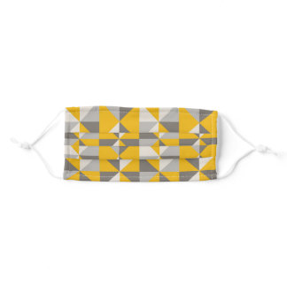 Retro Yellow Triangles Adult Cloth Face Mask