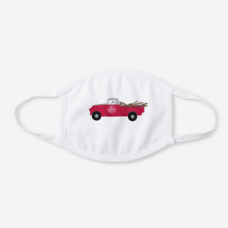 Rex and Red Truck cotton mask