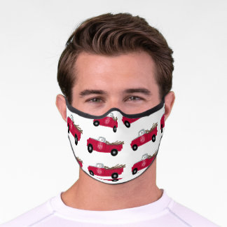 Rex And Red Truck Premium Mask