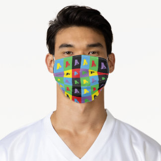 Rhode Island Colorful Pop Art Pattern Adult Cloth Face Mask