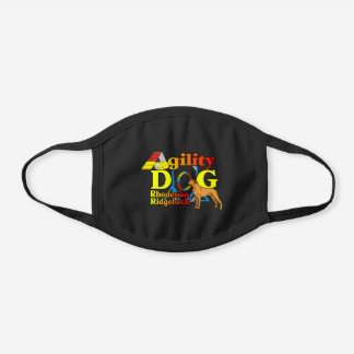 Rhodesian Ridgeback Agility Black Cotton Face Mask