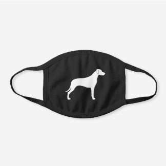 Rhodesian Ridgeback Dog Breed Silhouette Black Cotton Face Mask