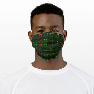 Rising Bubbles (Green & Red) Adult Cloth Face Mask
