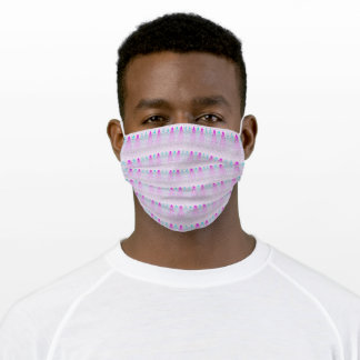 Rising Bubbles (Pink & Blue) Adult Cloth Face Mask