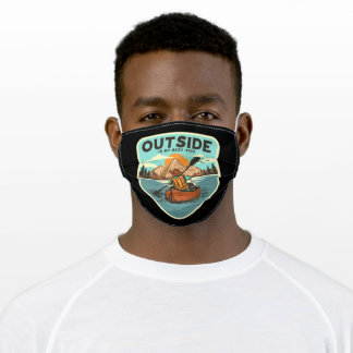 River adventure adult cloth face mask