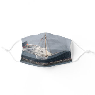 RMS Queen Mary Hotel and Museum in Long Beach Adult Cloth Face Mask