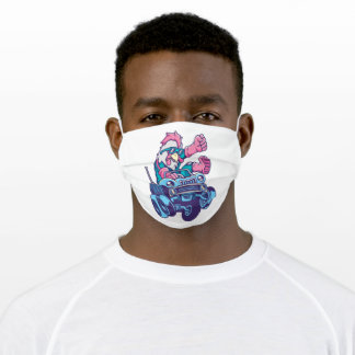 Road rooster adult cloth face mask