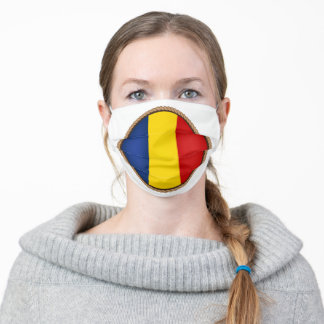 Roamanian Flag SEal Adult Cloth Face Mask