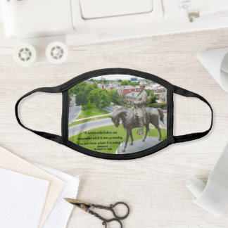 Robert E Lee Quote - Remembering History Face Mask