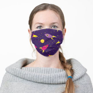 Rockets in Space Adult Cloth Face Mask