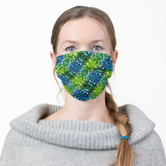 Rocking Green and Blue Face Mask