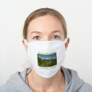 Rocky Mountains National Park Spring White Cotton Face Mask
