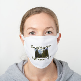 Rocky Mountains National Park Valley Spring White Cotton Face Mask