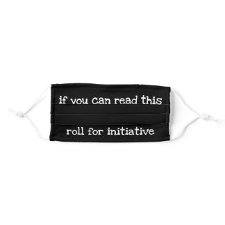 Roll for Initiative Face Mask