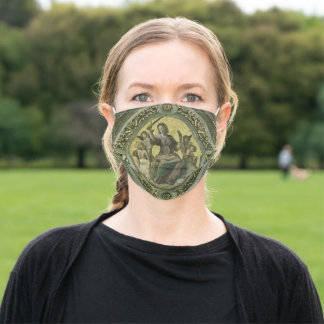 Roman Goddess Justice with Angels by Raphael Adult Cloth Face Mask