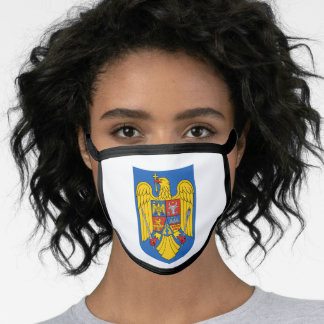 Romanian coat of arms face mask