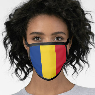 Romanian flag face mask