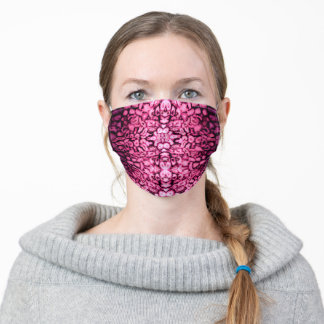 Romantic abstract pink gemstone pattern adult cloth face mask