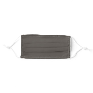 Root Brown Grey Solid Color SW 7048 Adult Cloth Face Mask