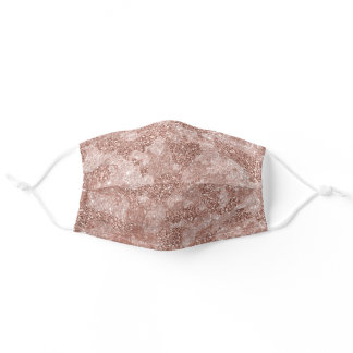 Rose Gold Glitter Pink Camouflage Camo For Her Adult Cloth Face Mask