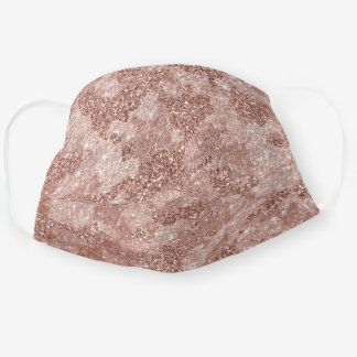 Rose Gold Glitter Pink Camouflage Camo For Her Cloth Face Mask