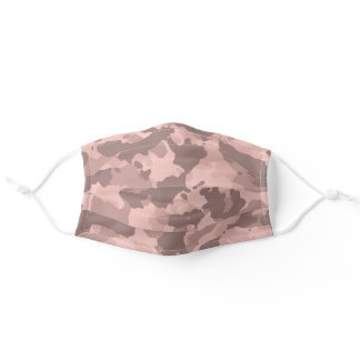 Rose Gold Pink Camouflage Camo For Her Adult Cloth Face Mask