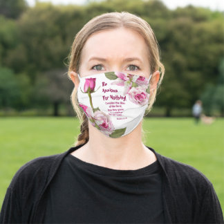 Rose Lily Scripture Verse Adult Cloth Face Mask