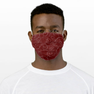 Rose Swirls Adult Cloth Face Mask