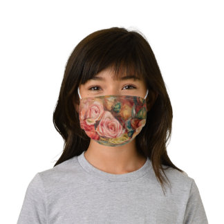 Roses by Renoir Impressionist Painting Kids' Cloth Face Mask