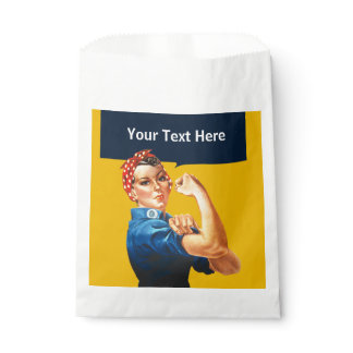 Rosie the Riveter Custom Vintage American WW2 Favor Bag
